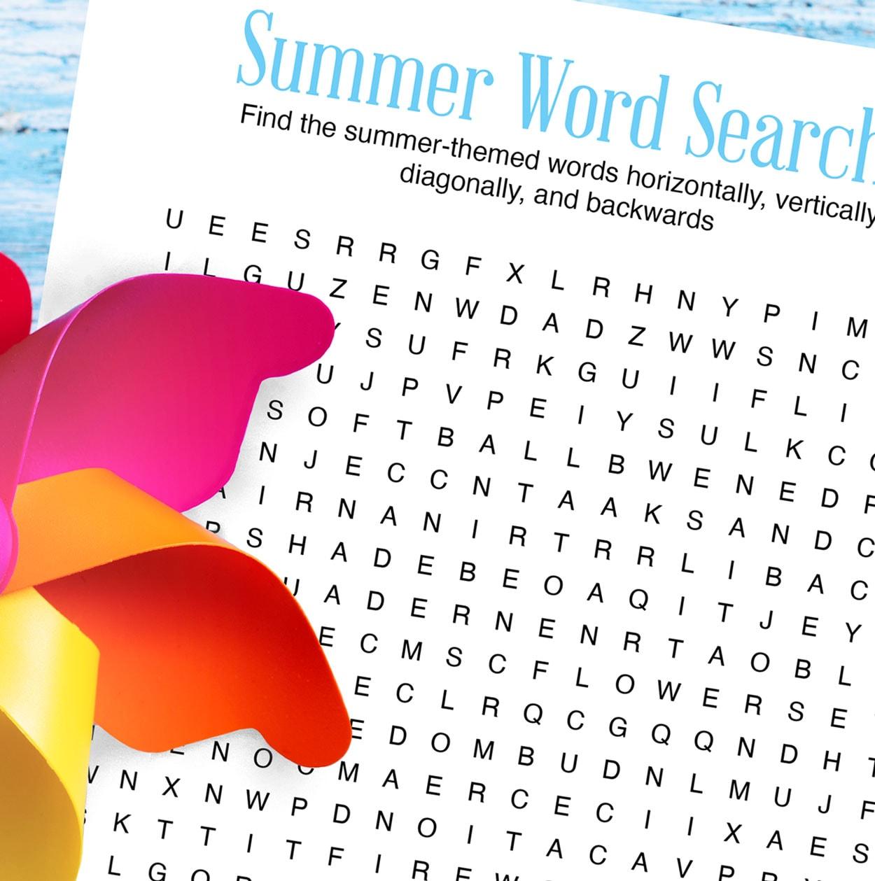 Summer Word Search Printable | Carla Schauer Designs