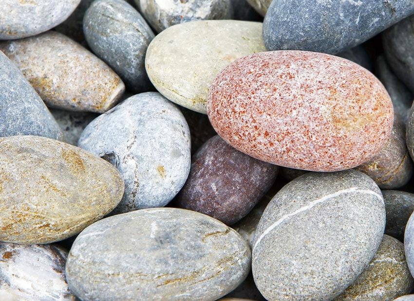Colorful natural rocks in pile.